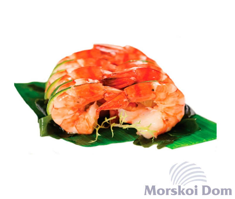 Frozen Cooked Peeled Tiger Prawns Tail On 51/60