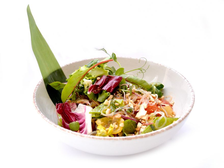 Asian salad with bean thread noodles